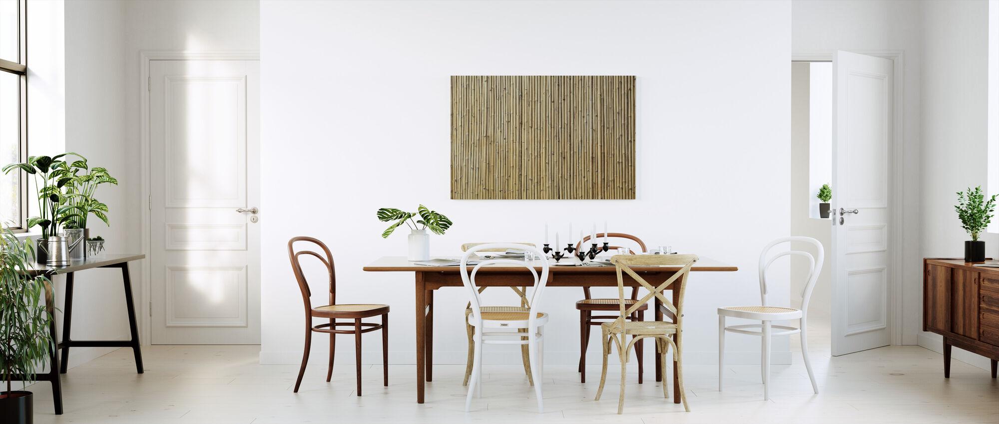 Bamboo Texture - Canvas print - Kitchen