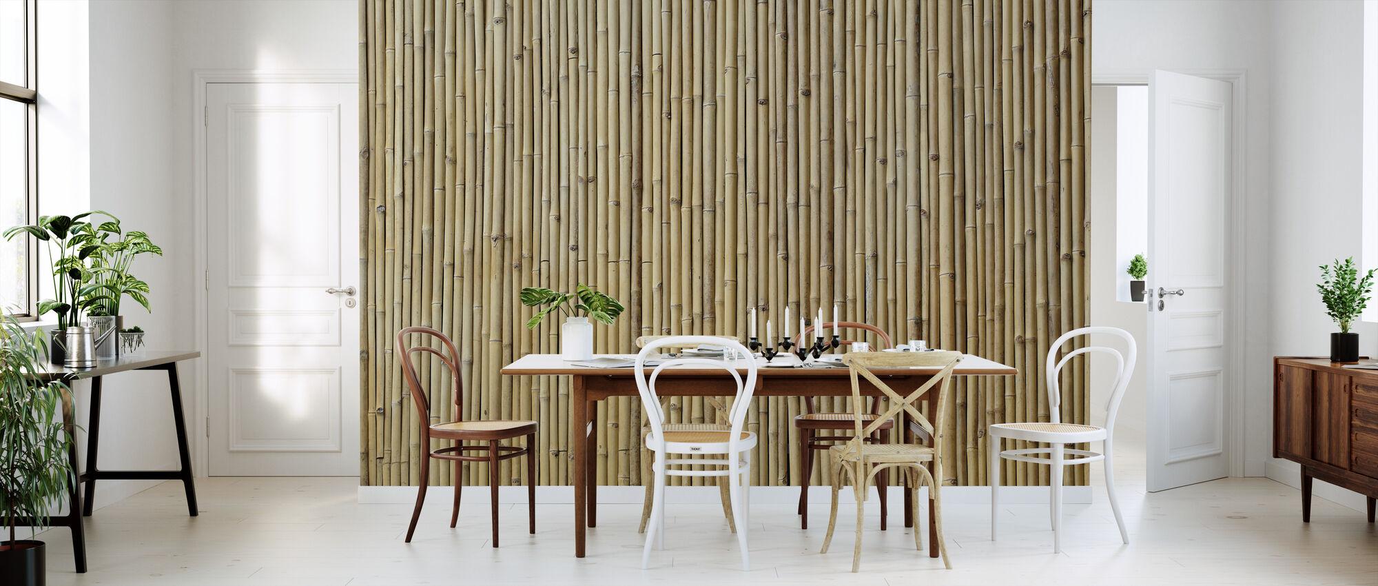 Tekstura bambusa - Tapeta - Kuchnia
