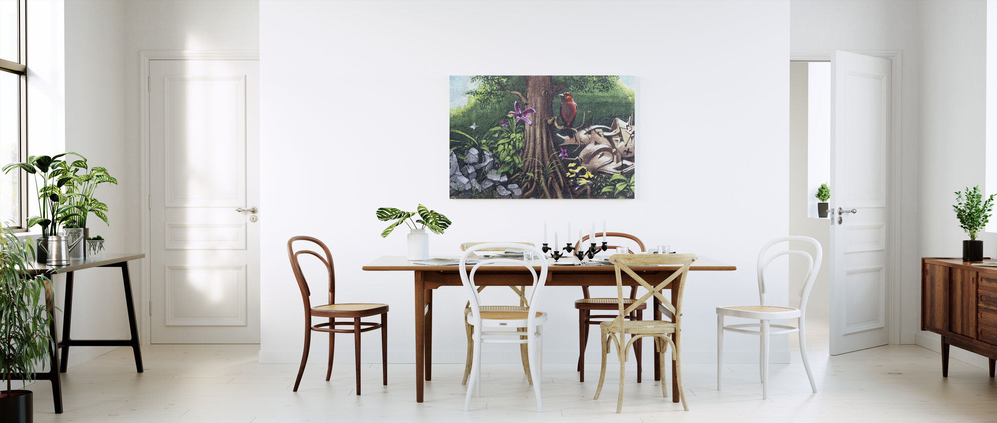 Bird of Paradise Graffiti - Canvas print - Kitchen