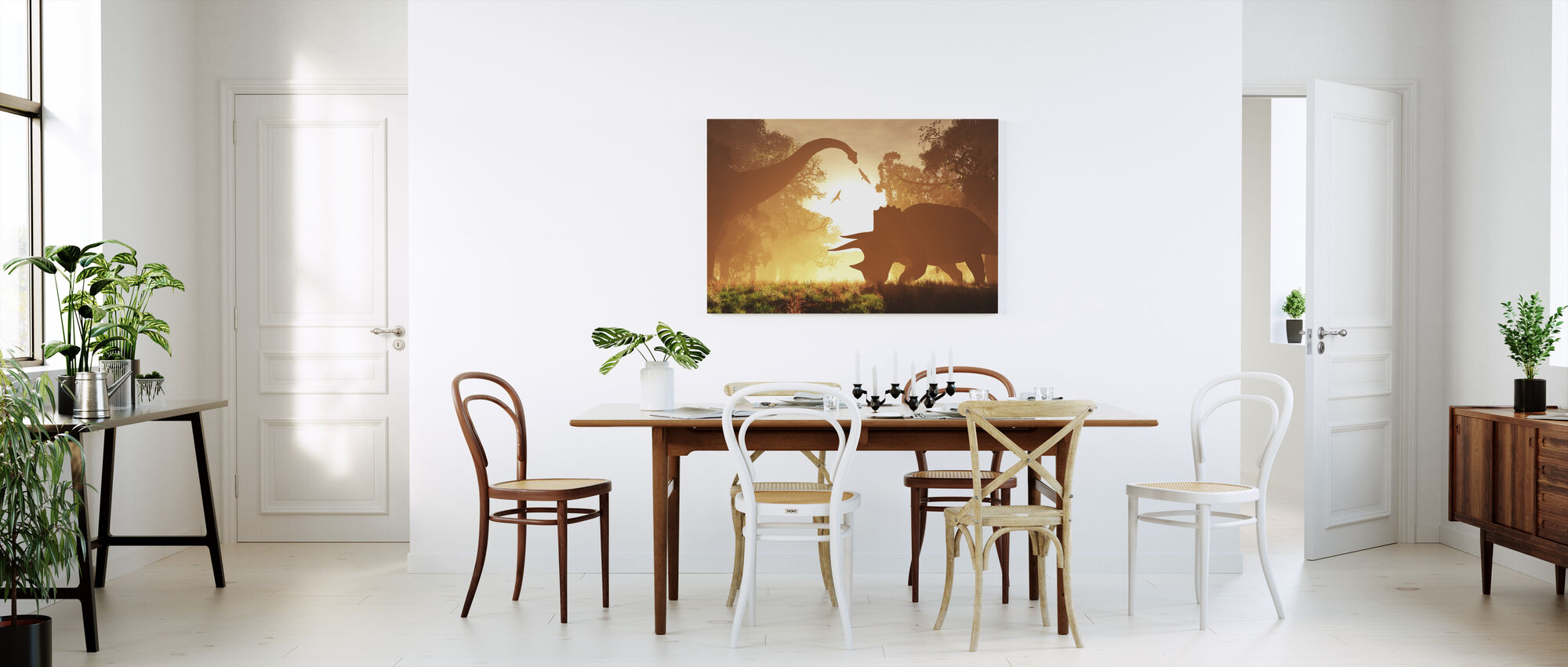 Dinosaur Morning - Canvas print - Kitchen