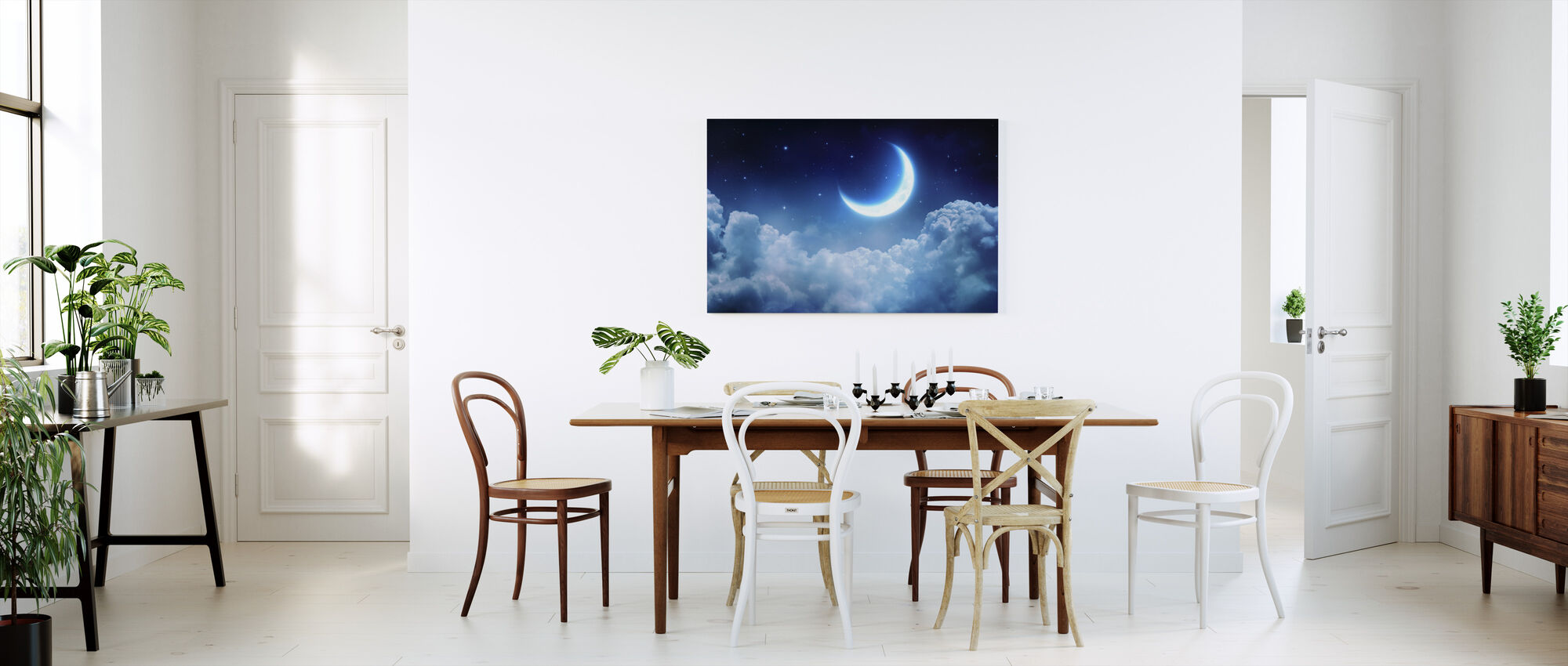 Dream View Maan - Canvas print - Keuken