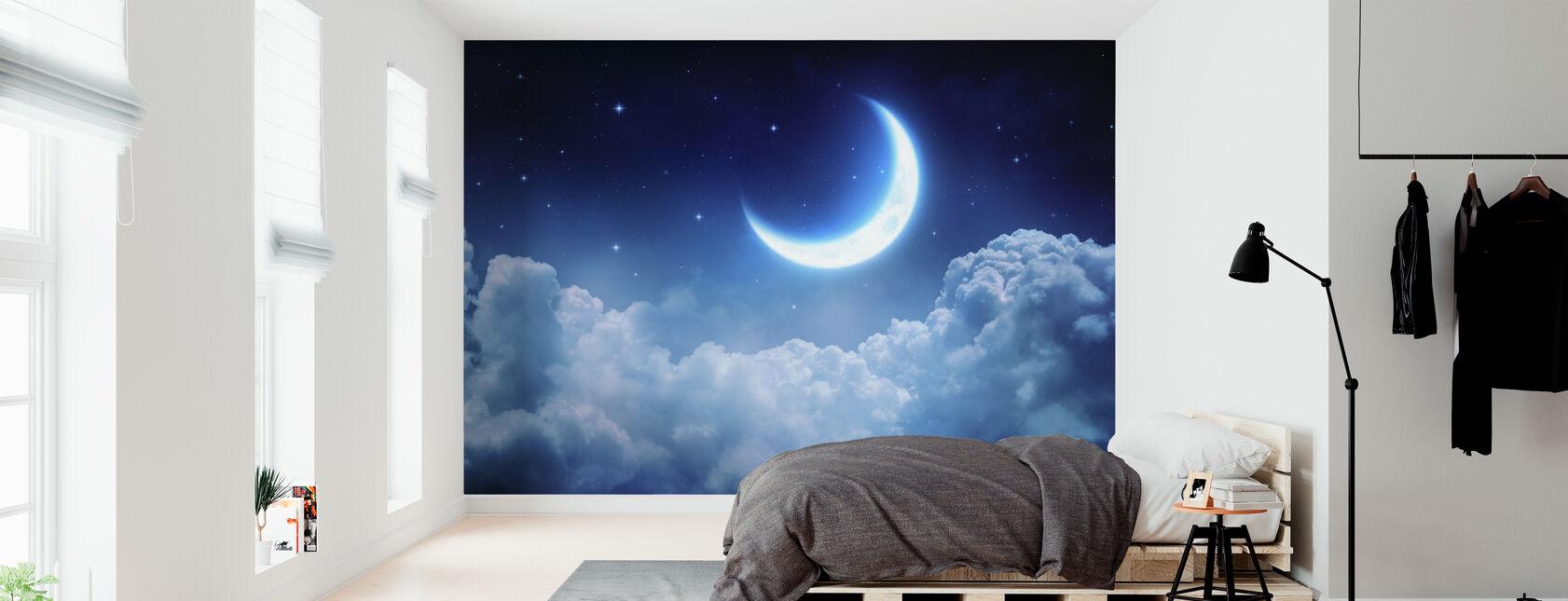 drøm utsikt månen - Tapet - Soverom