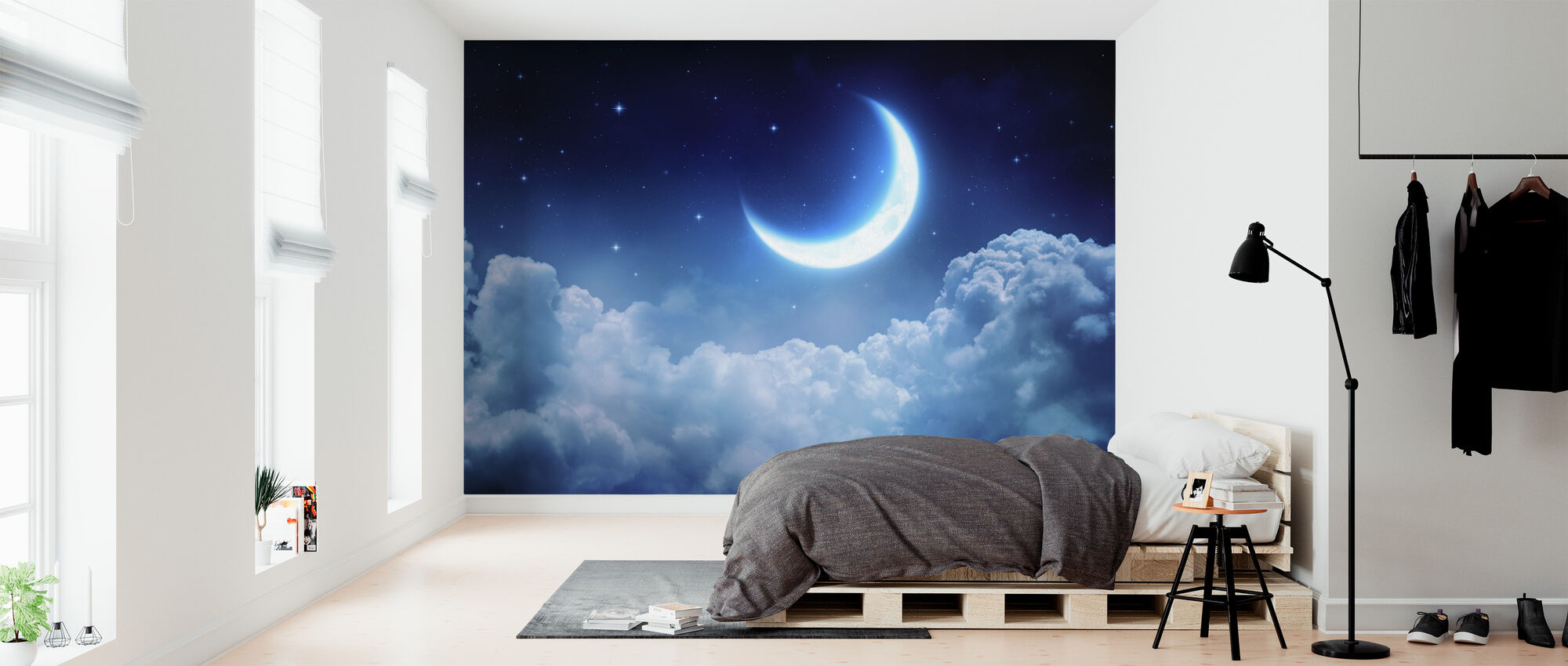 Dream View Moon - Wallpaper - Bedroom
