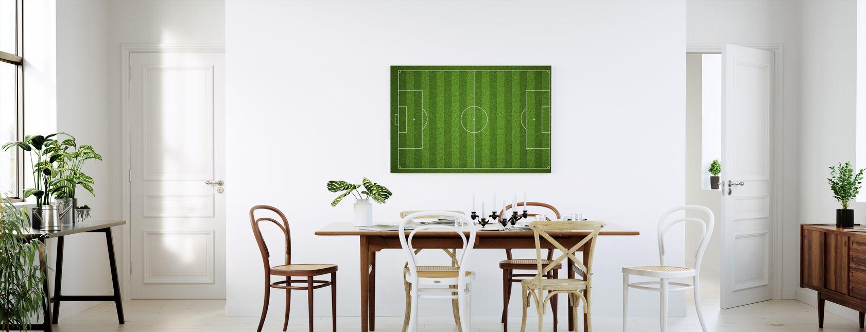 Fodboldbane - Billede på lærred - Køkken