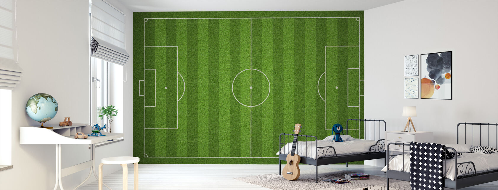 Football Field - Wallpaper - Kids Room