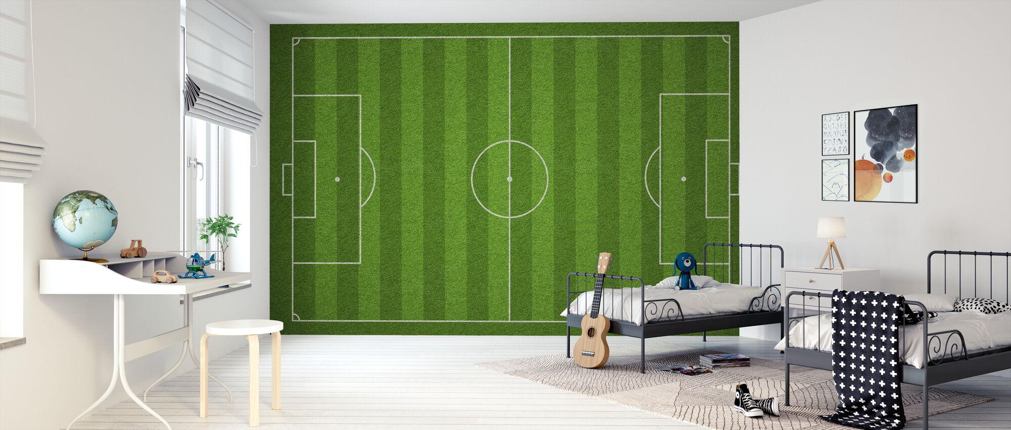 Fodboldbane - Tapet - Børneværelse