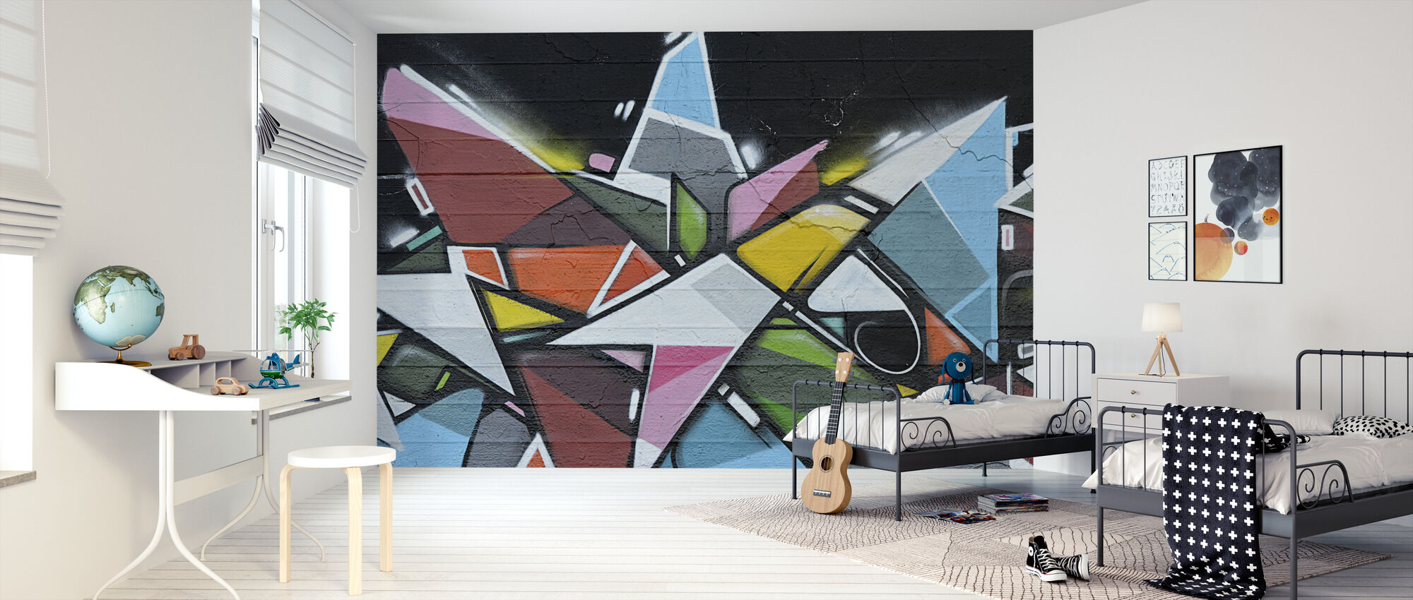 Geometric Graffiti - Wallpaper - Kids Room