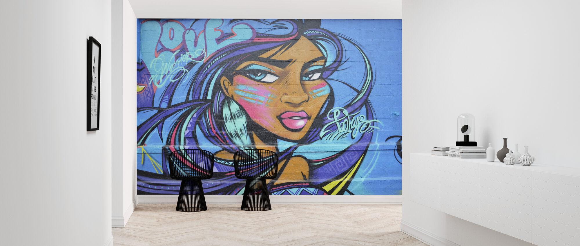 elsker kriger graffiti - Tapet - Gang