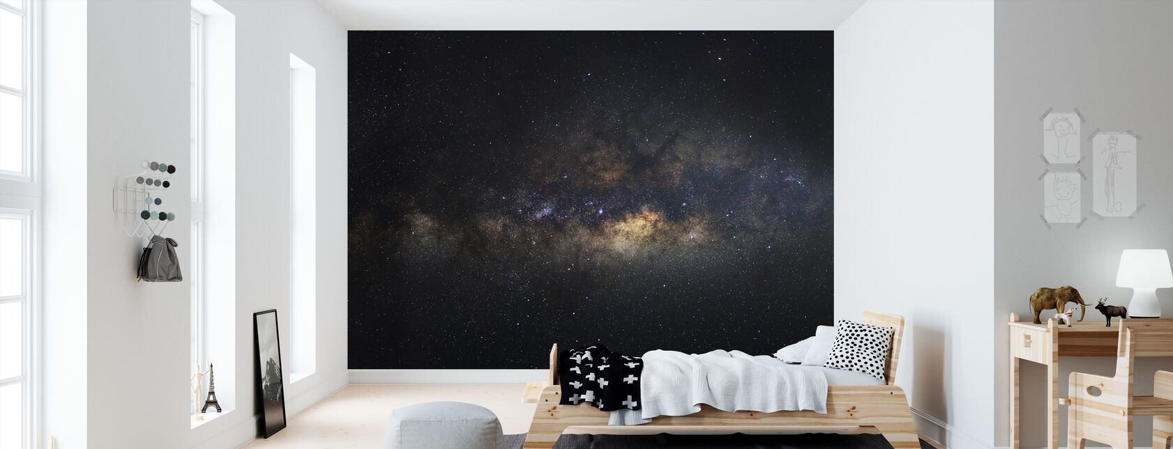 Milky Way Galaxy - Long Exposure - Wallpaper - Kids Room
