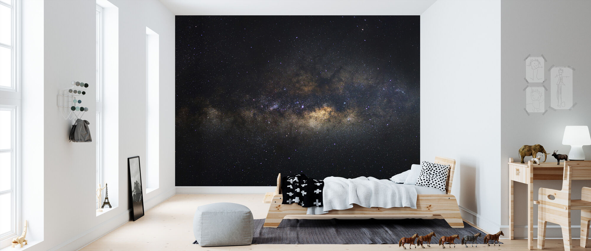 Linnunrata Galaxy - Pitkä altistuminen - Tapetti - Lastenhuone