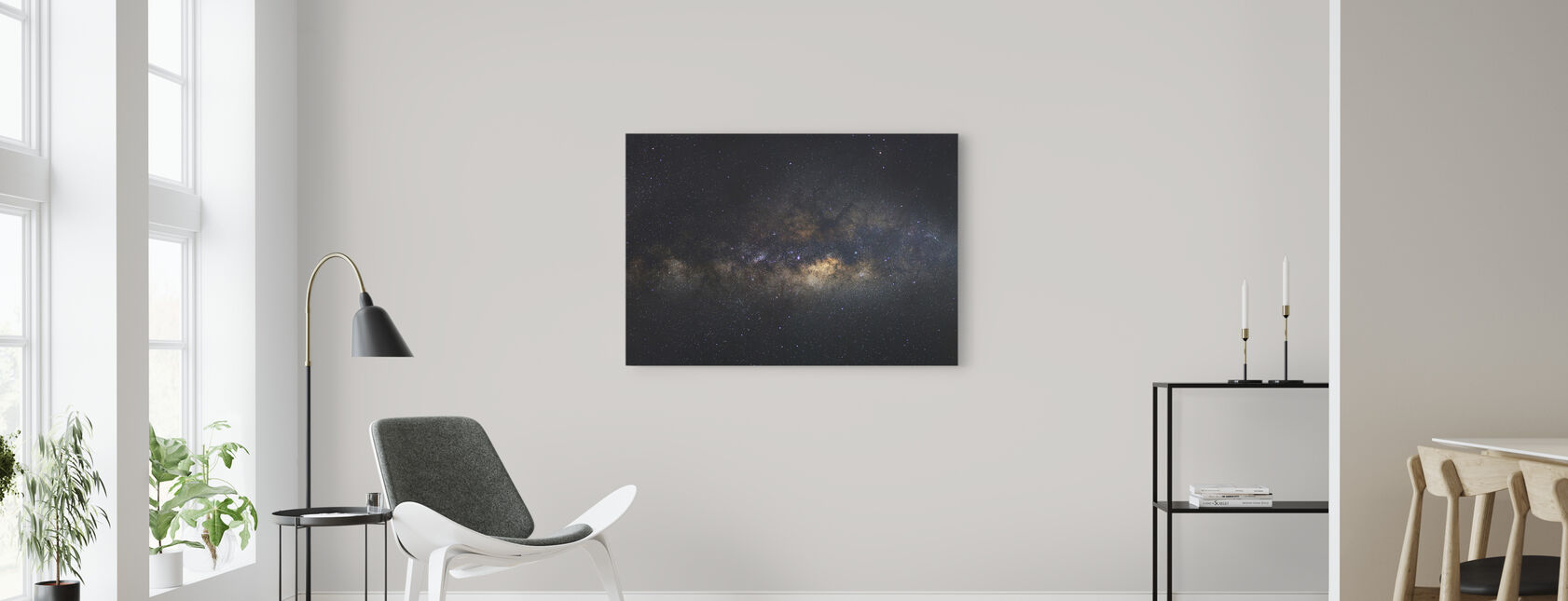 Melkeveien Galaxy - Lang Eksponering - Lerretsbilde - Stue
