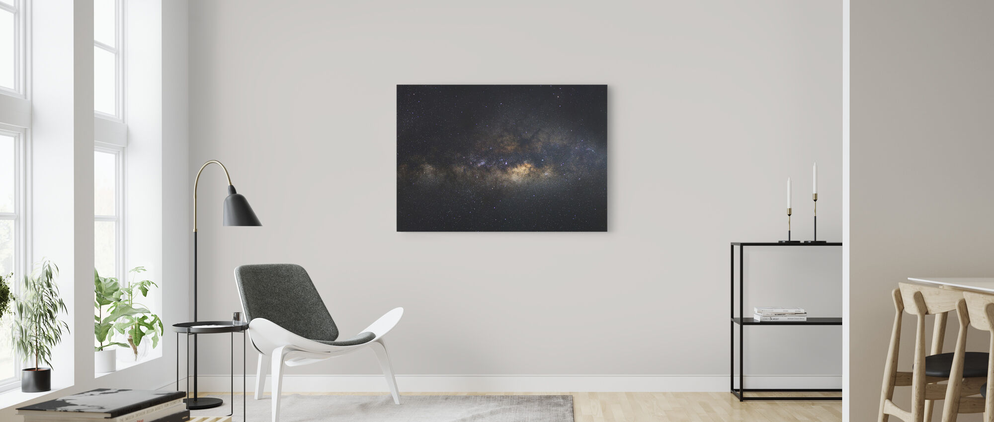 Milky Way Galaxy - Long Exposure - Canvas print - Living Room