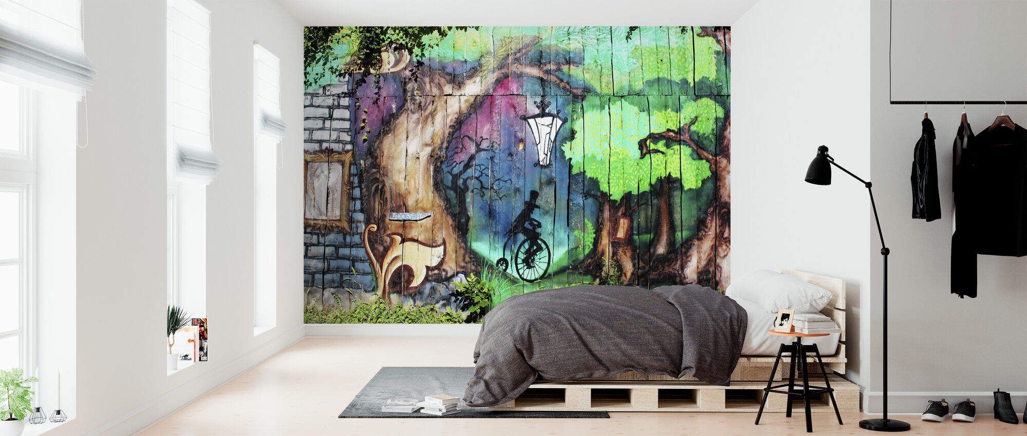 Mystery Forest Graffiti - Wallpaper - Bedroom