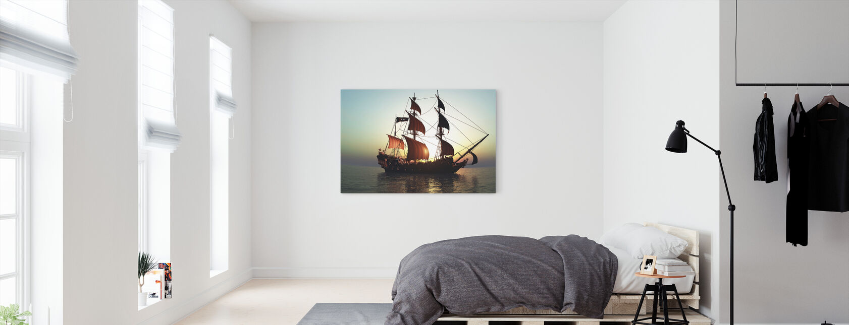 Pacific Sailing Ship - Canvas print - Bedroom