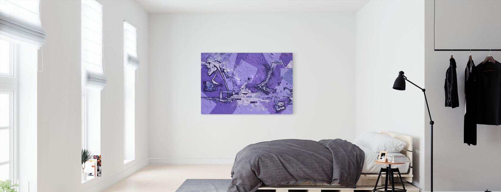 Purple Power Graffiti - Canvas print - Bedroom