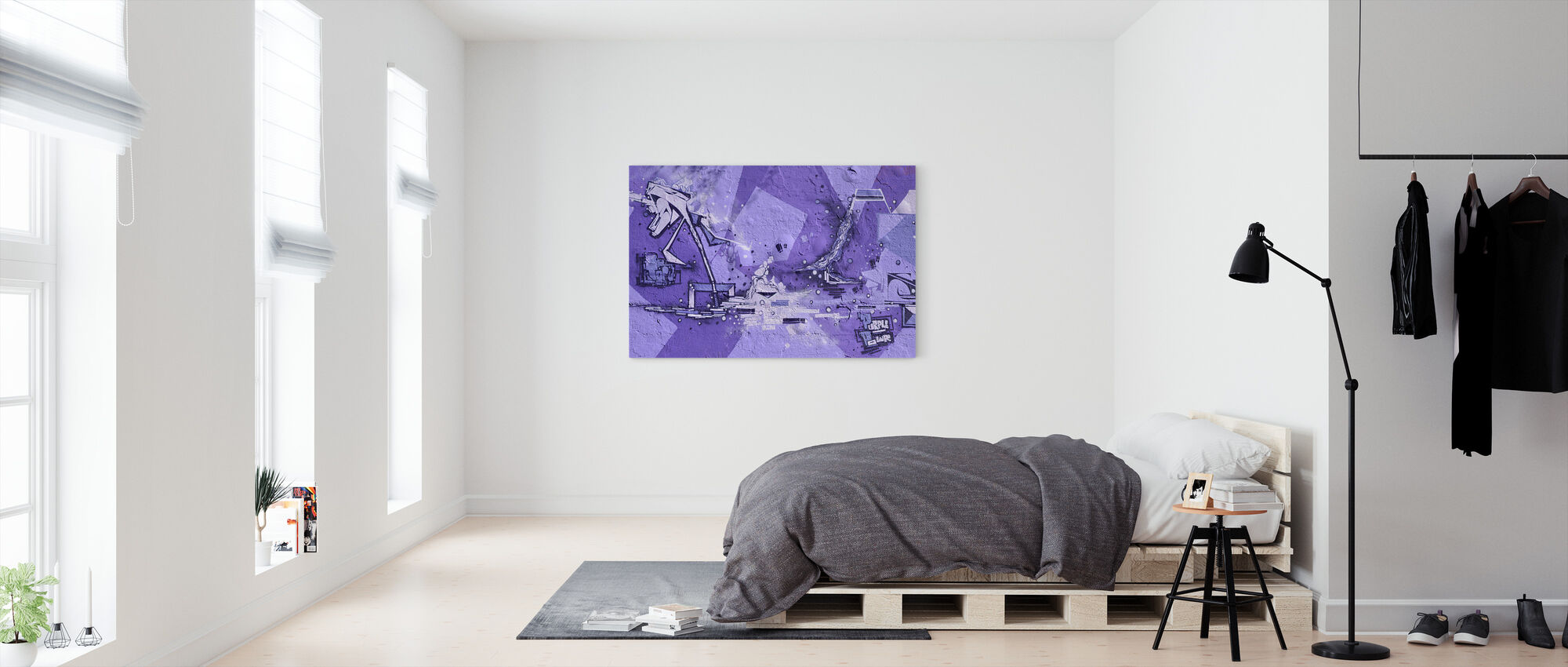 Purple Power Graffiti - Canvas print - Bedroom