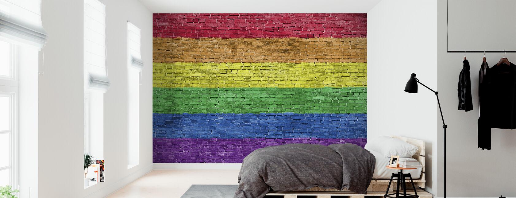 Rainbow graffiti - Tapet - Soveværelse