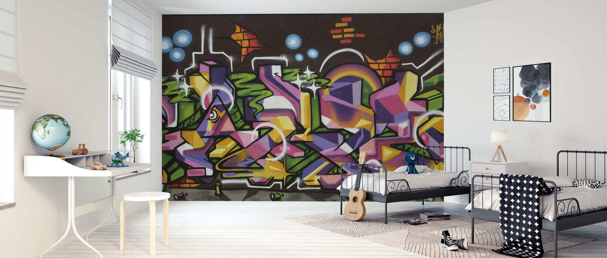 Tonåring graffiti - Tapet - Barnrum