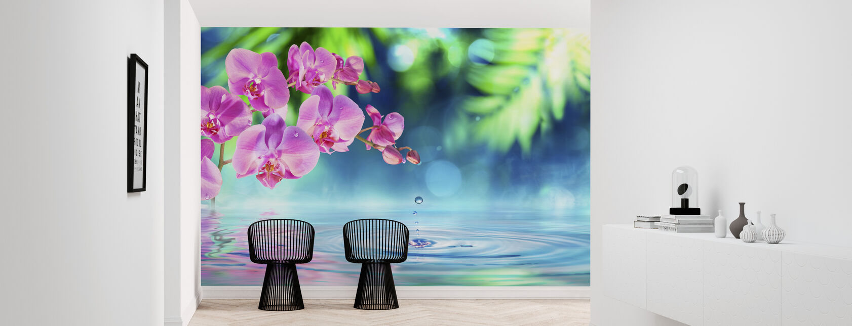 Zen Spa Orchid - Wallpaper - Hallway