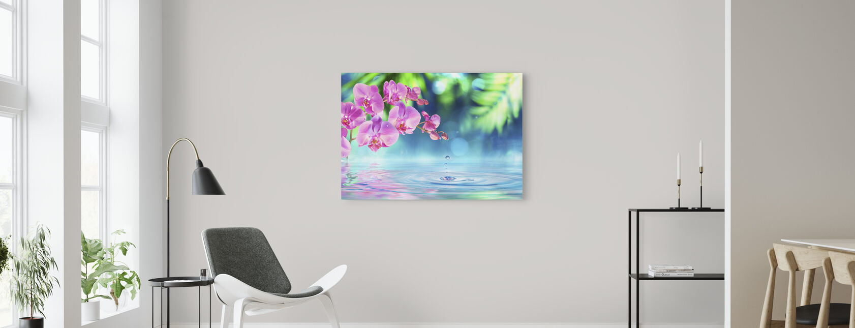 Zen Spa Orchid - Canvas print - Living Room