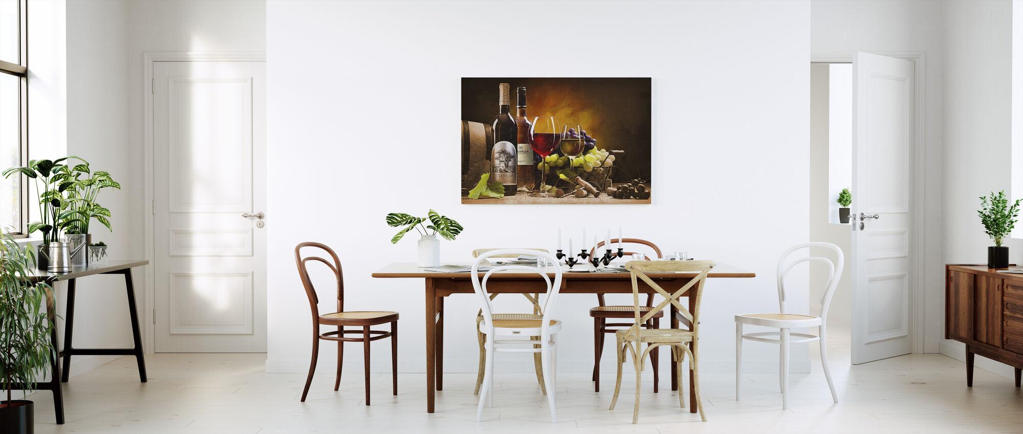 Een smaak van Napa Valley - Canvas print - Keuken