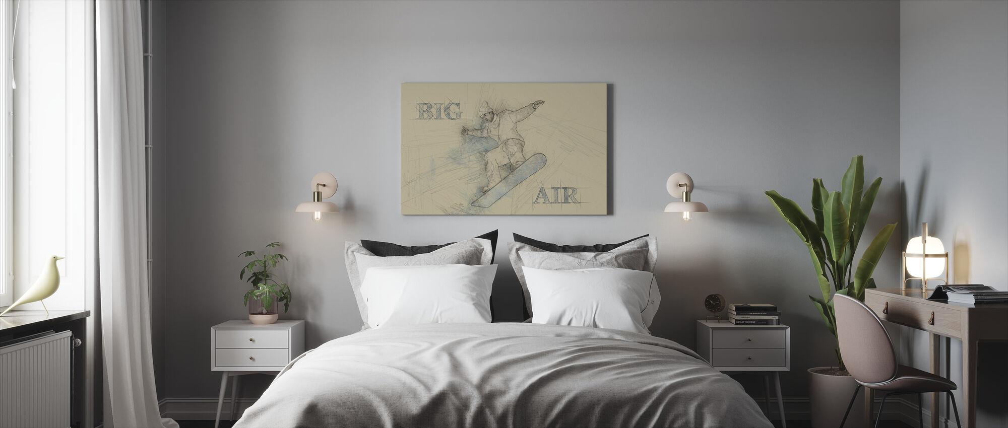 Iso ilma - Canvastaulu - Makuuhuone