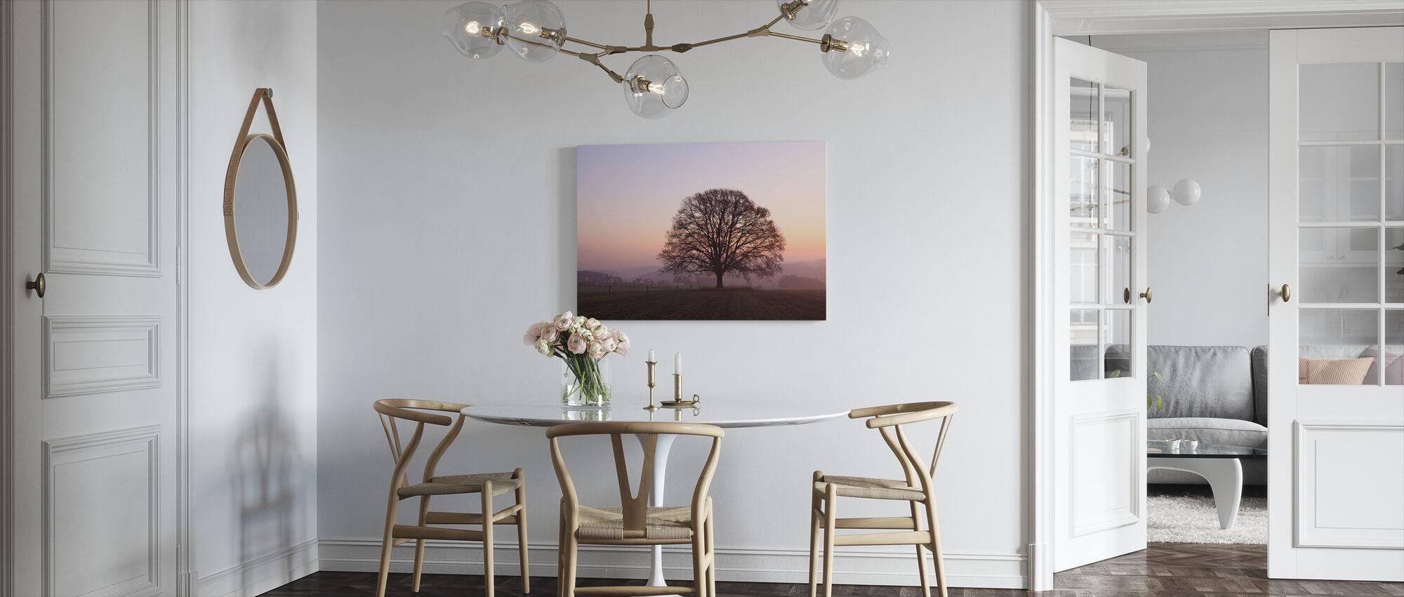 Old Oak Tree at Dawn - Canvas print - Kitchen