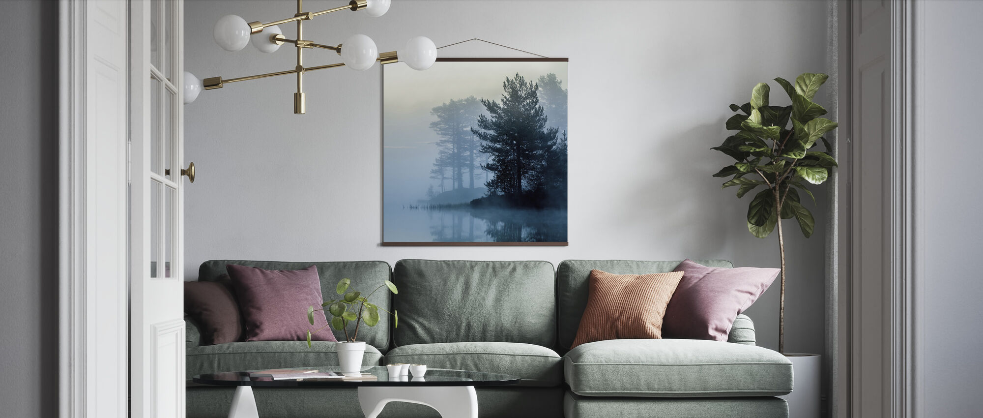 One Early Misty Morning - Poster - Living Room
