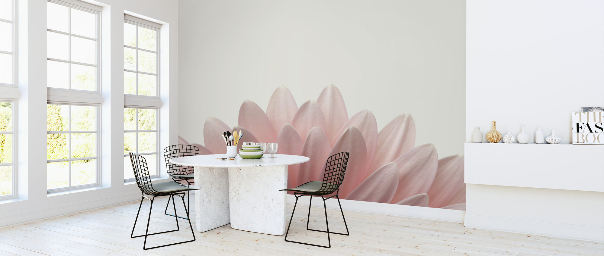 Pale Pink Gerbera - Wallpaper - Kitchen