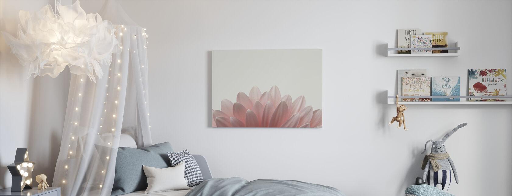 Pale Pink Gerbera - Canvas print - Kids Room