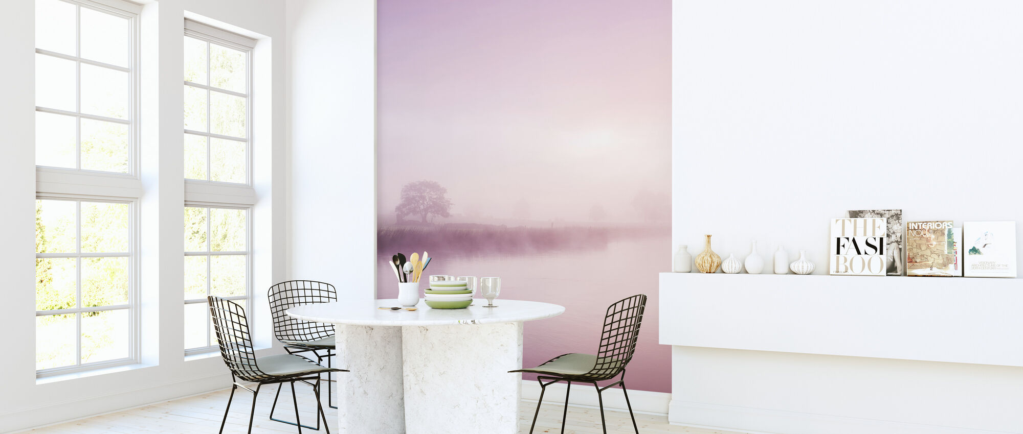 Rose Mist over River Boyne - Wallpaper - Kitchen