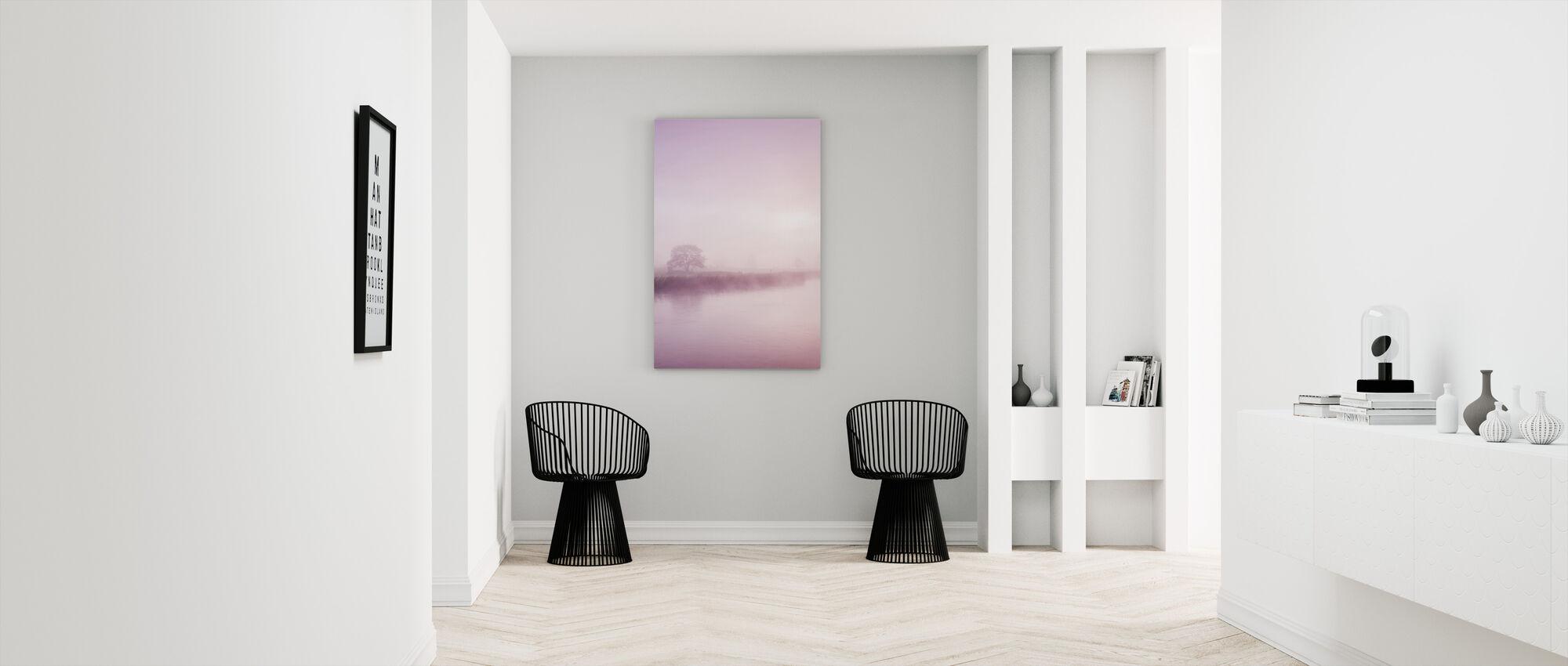 Rose Mist över floden Boyne - Canvastavla - Hall