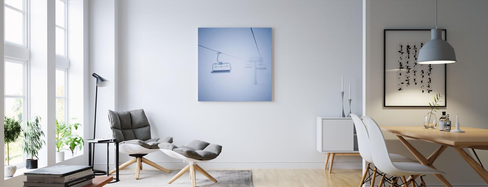 Ski Lifts - Canvas print - Living Room