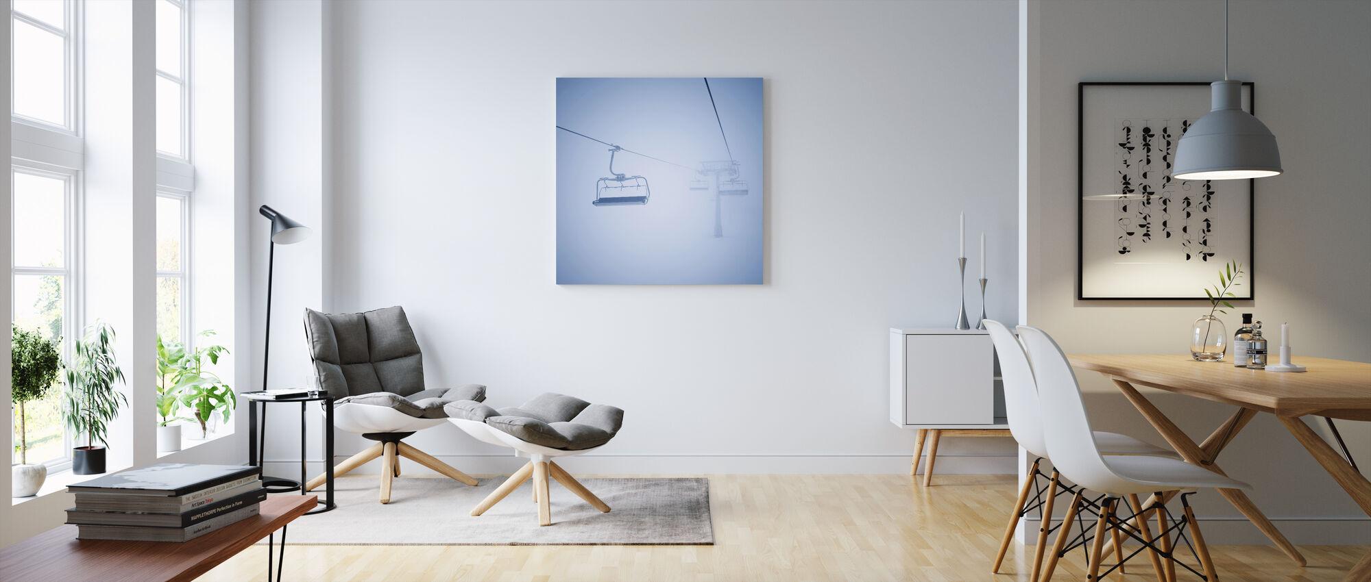 Skilifte - Leinwandbild - Wohnzimmer