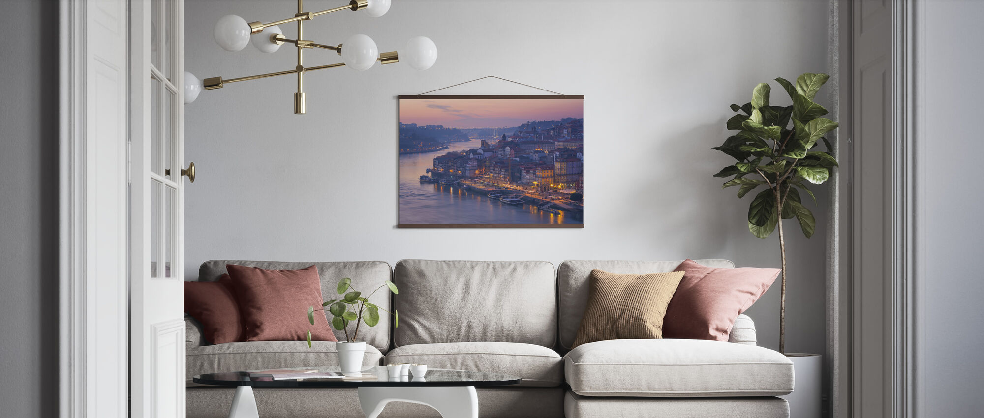 Sunset in Porto City - Poster - Living Room