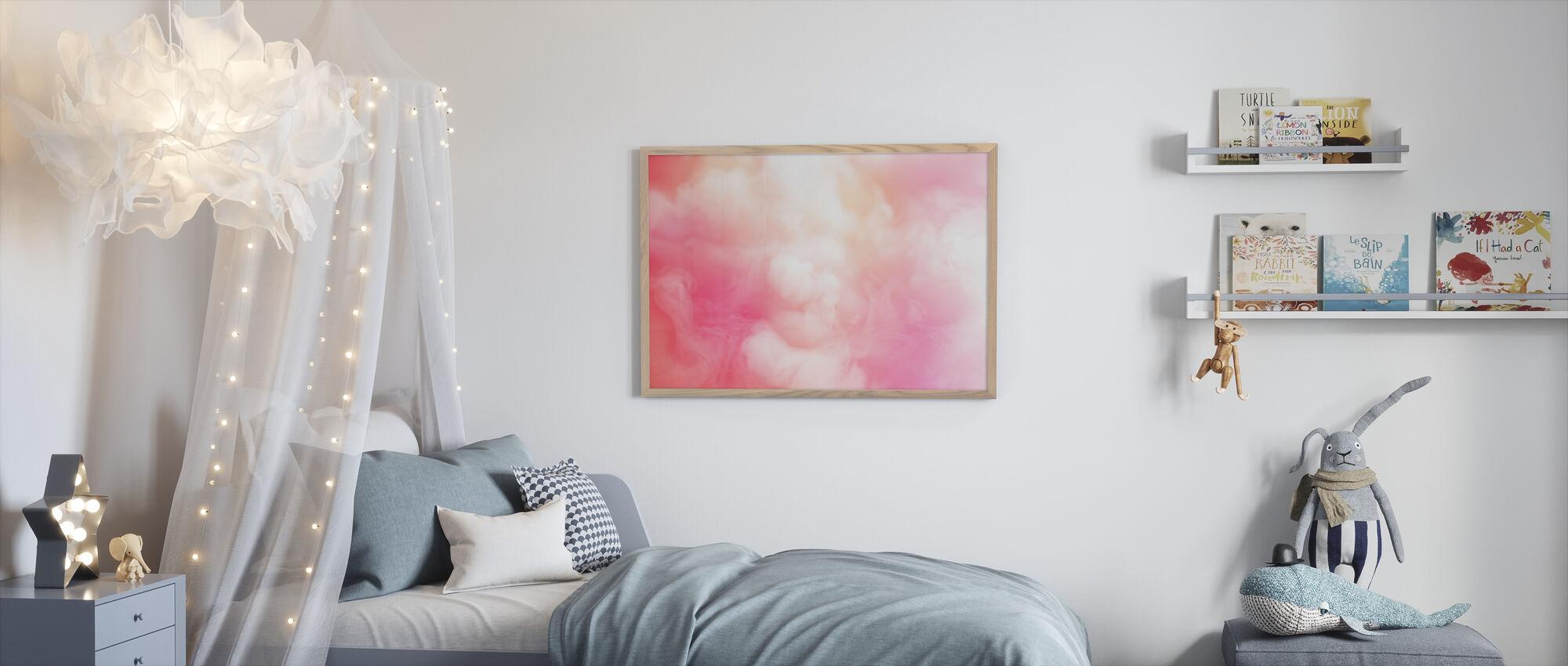 Swirling Smoke - Framed print - Kids Room