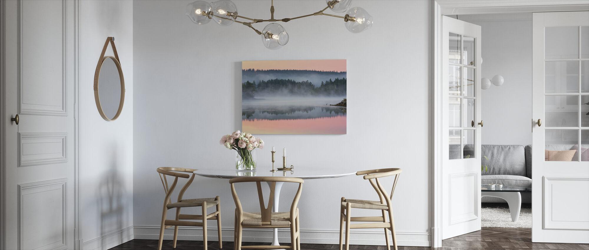 Valkoiset saari aamunkoitteessa - Canvastaulu - Keittiö