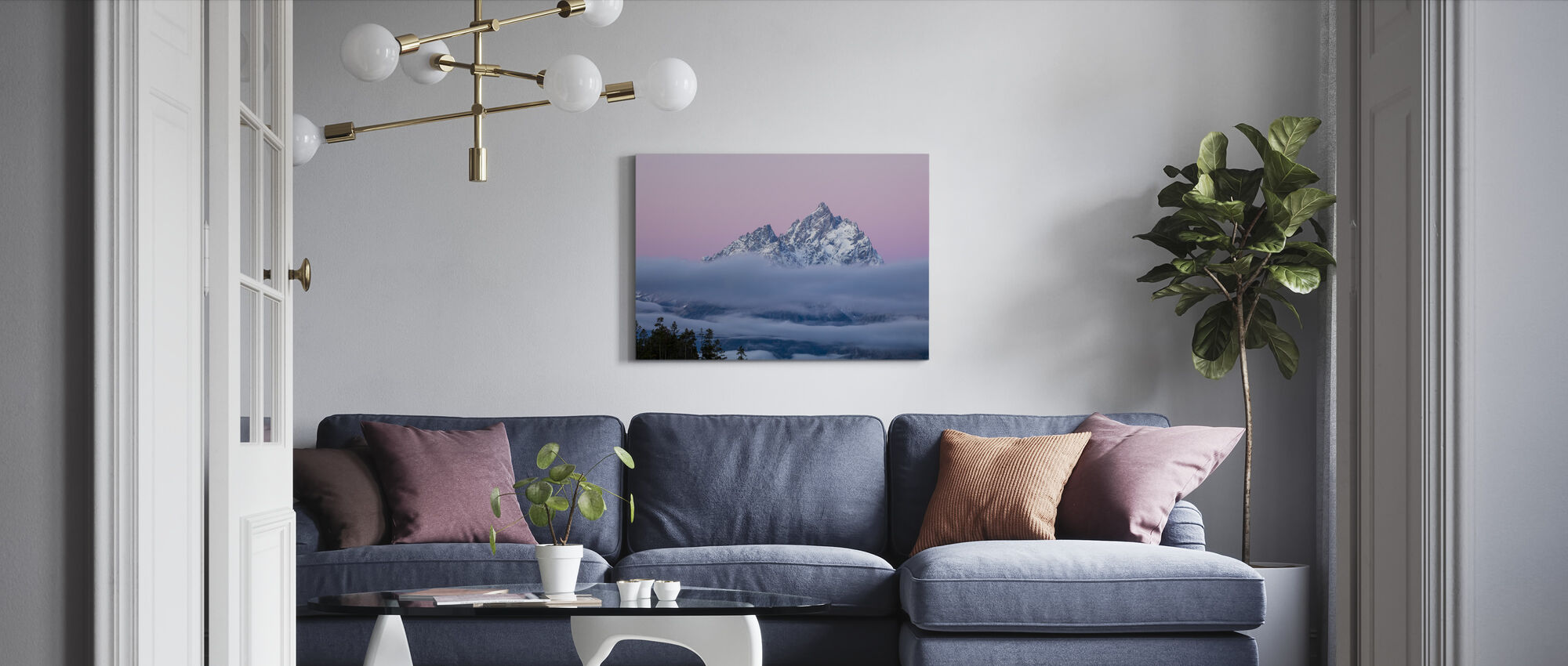 Wrapped in Fog - Canvas print - Living Room