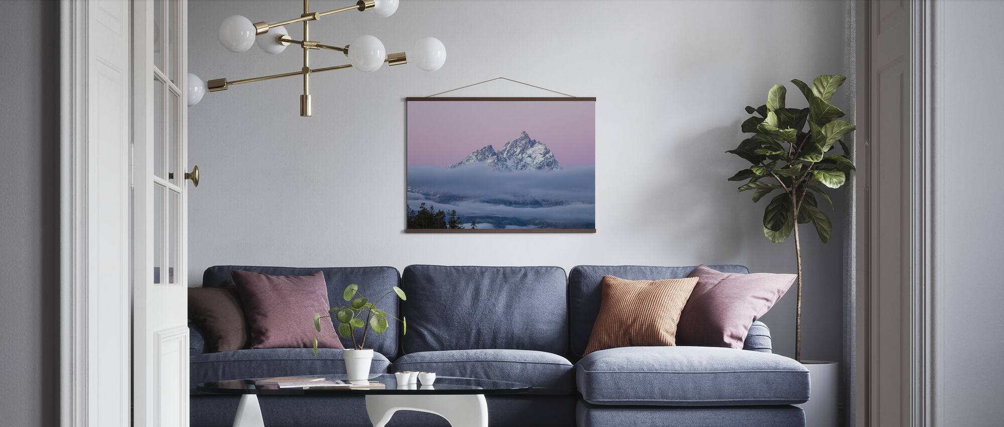 Wrapped in Fog - Poster - Living Room