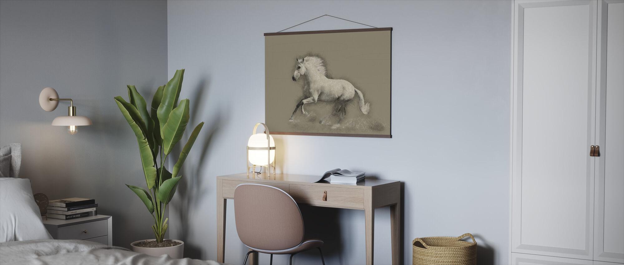 Häst Teckning - Poster - Kontor