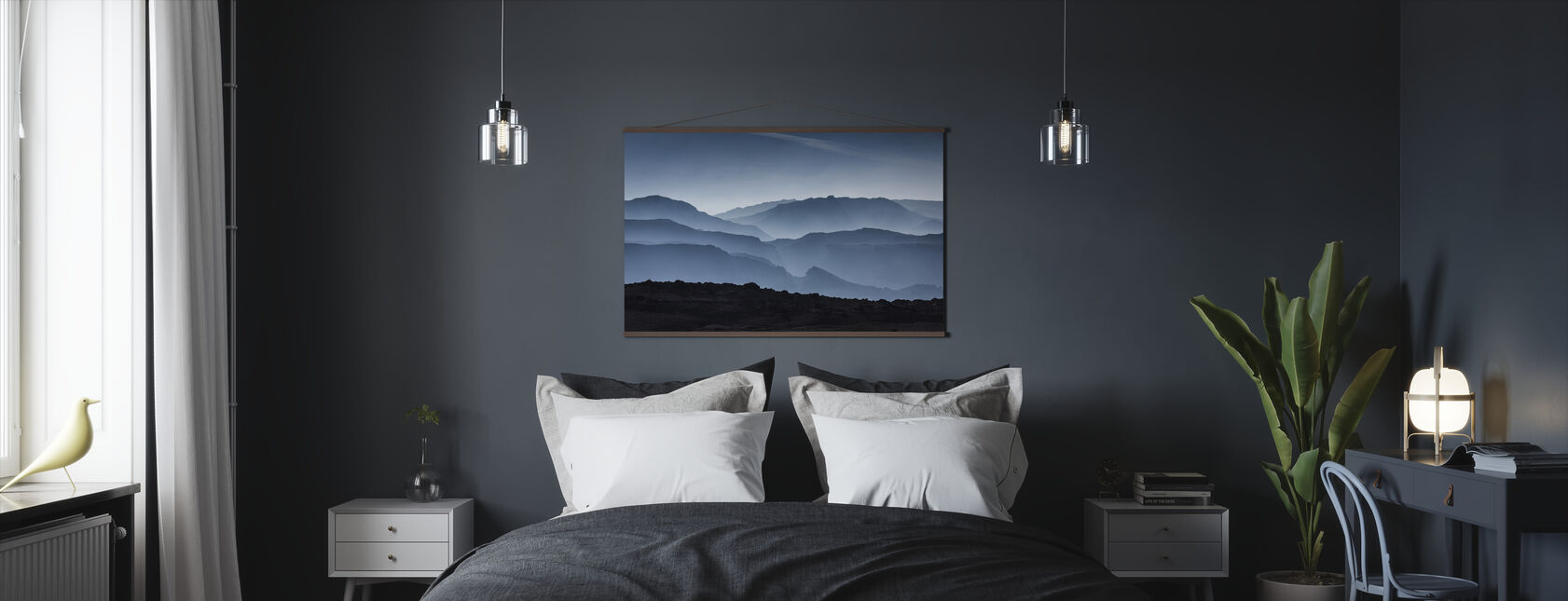 Icelandic Mountains - Poster - Bedroom