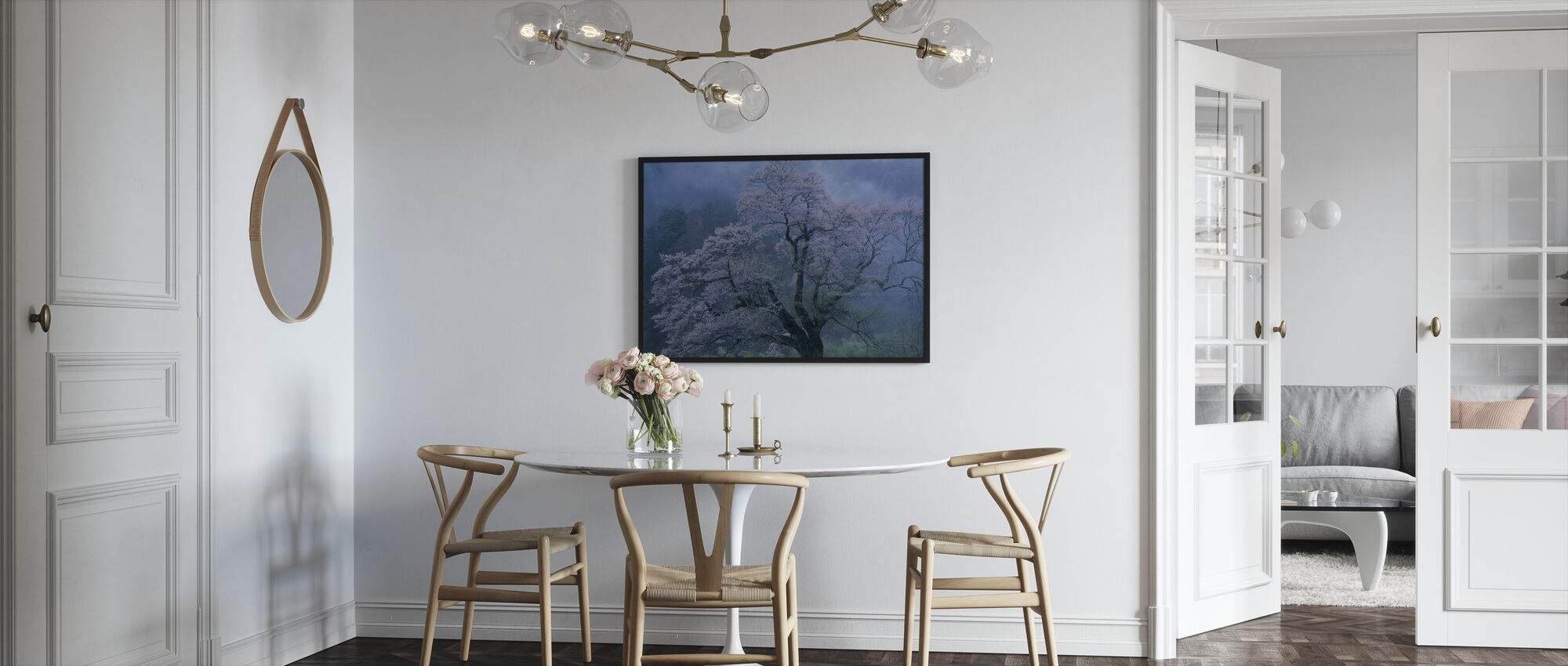 Mystical Cherry Blossoms - Framed print - Kitchen
