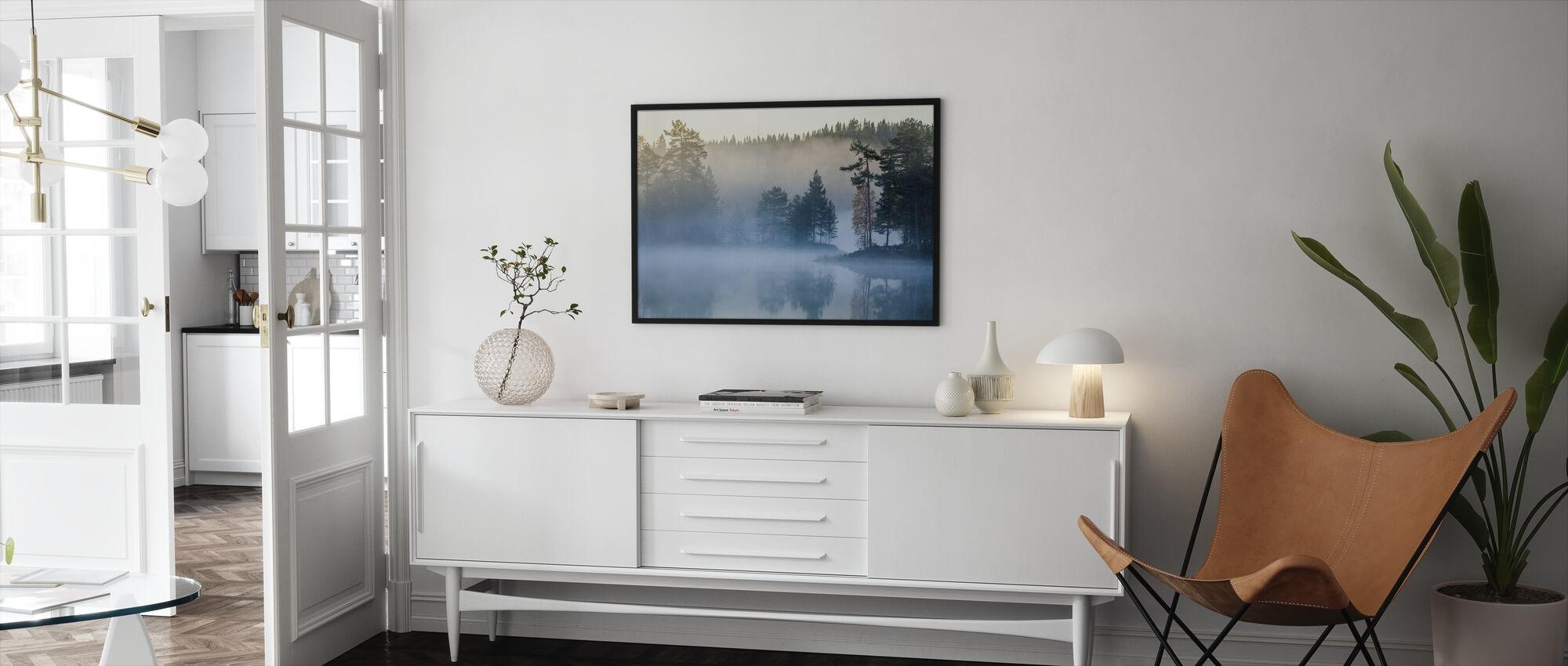 Norsk tåke - Innrammet bilde - Stue
