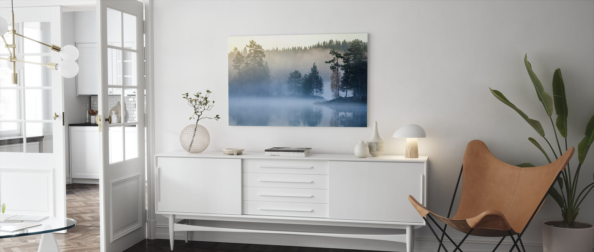 Noorse Mist - Canvas print - Woonkamer