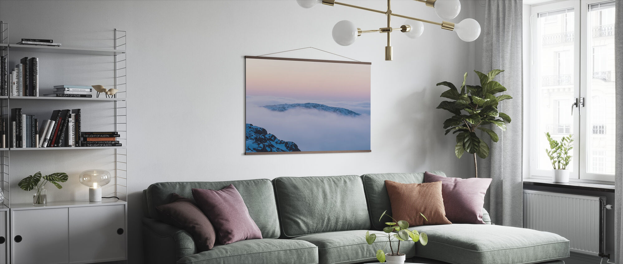 Clouds above Mountains - Poster - Living Room
