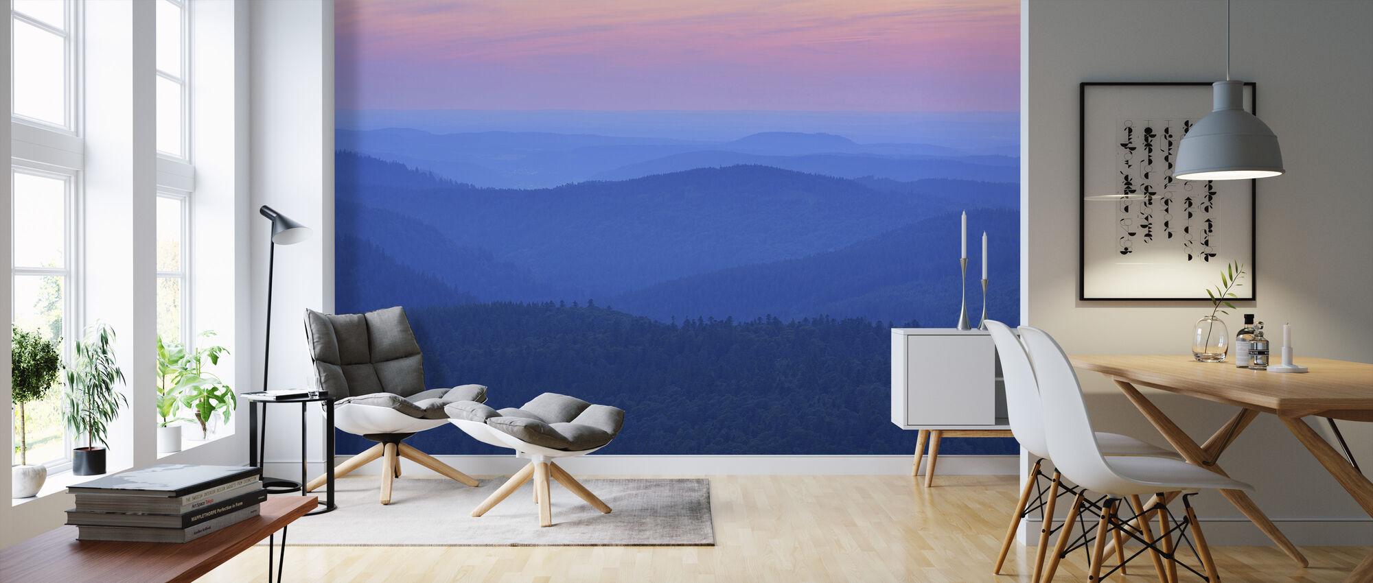 Dawn Ridges in the Evening - Wallpaper - Living Room