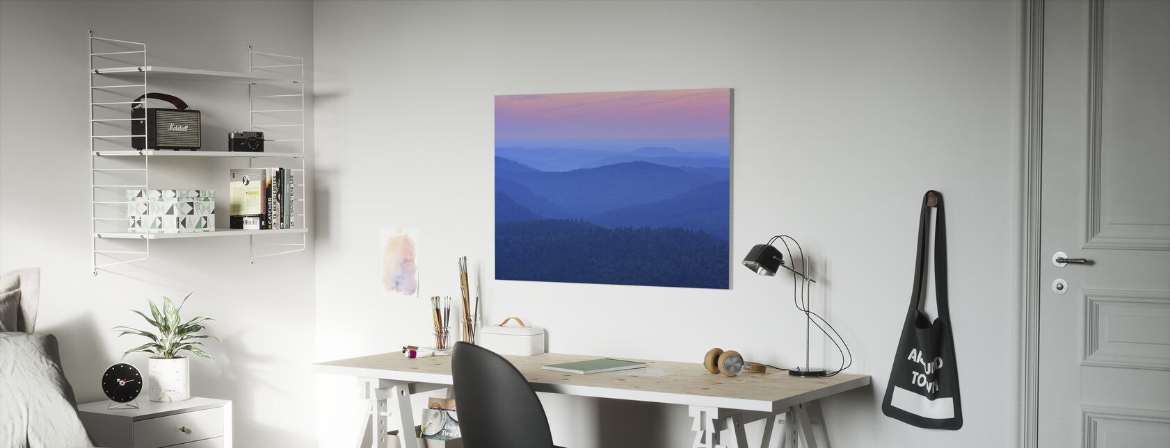 Dawn Ridges in the Evening - Canvas print - Kids Room