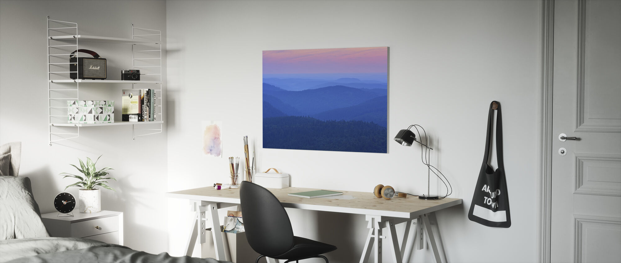 Dawn Ridges in the Evening - Canvas print - Kids Room