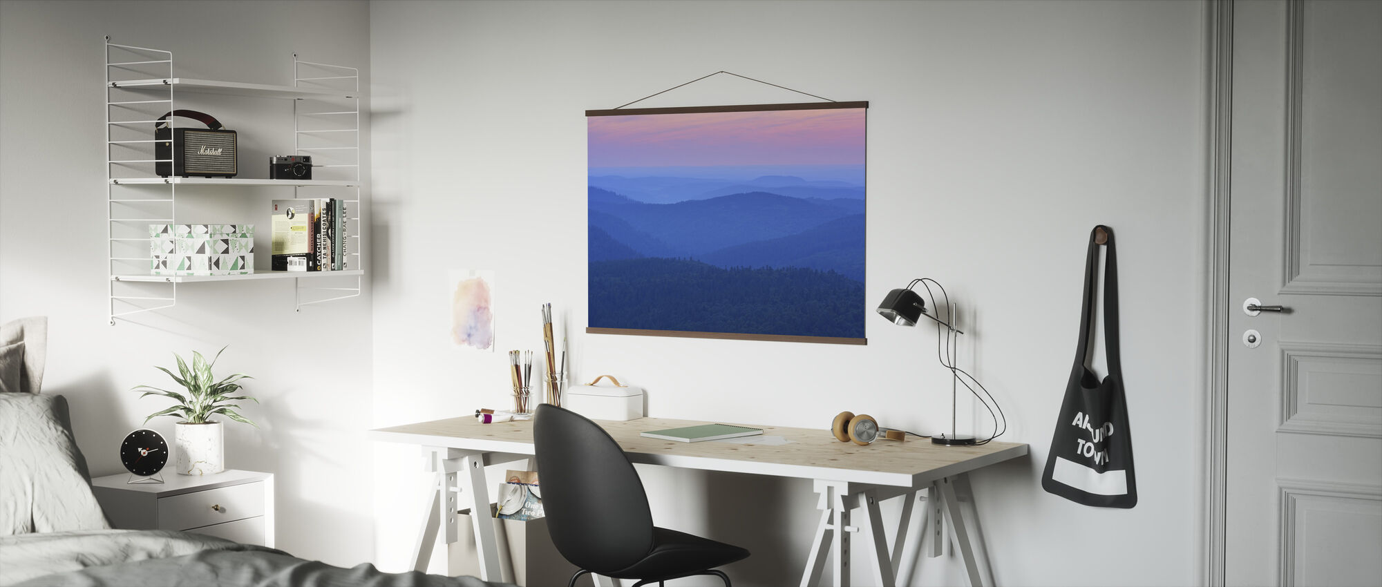 Dawn Ridges in the Evening - Poster - Office