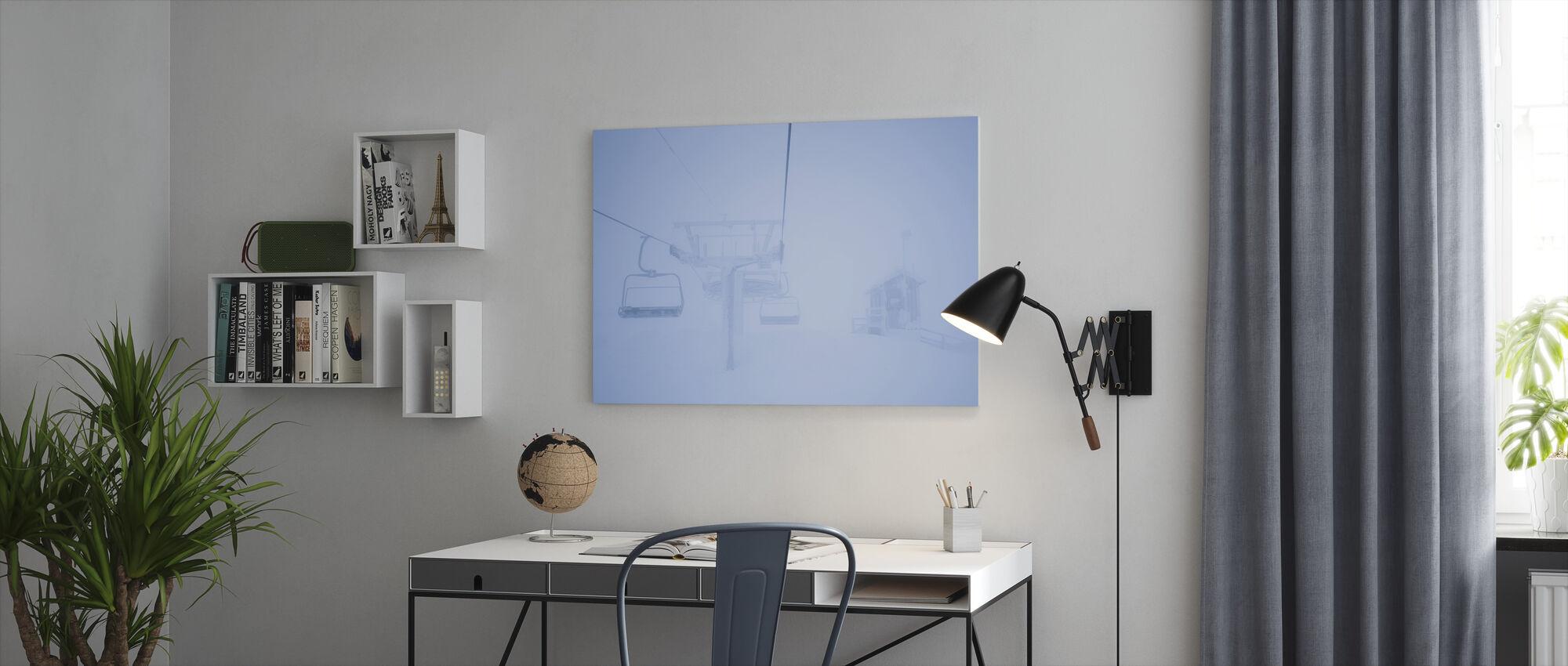 Empty Ski Lifts - Canvas print - Office